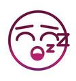 sleeping funny smiley emoticon face expression vector image