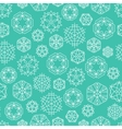 Snowflake winter Christmas seamless green and vector image
