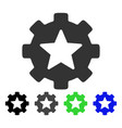 star favorites options gear flat icon vector image vector image