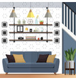stylish living room decorating designs vector image vector image