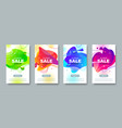 super sale banners with abstract fluid shape vector image