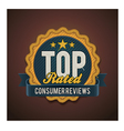 top rated badge vector image vector image