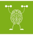 Train your brain vector image vector image