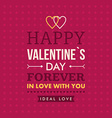 Valentines day typography badge stamp and design vector image vector image
