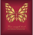 Vintage gold beautiful butterfly vector image vector image