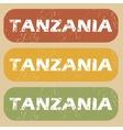 Vintage Tanzania stamp set vector image vector image