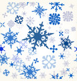 wallpaper pattern with hand drawn shiny showflakes vector image
