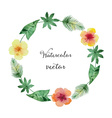 Watercolor round frame vector image vector image