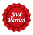 Wedding tag Just married sticker vector image vector image