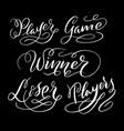 winner hand written typography vector image vector image