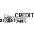 with student credit cards try to impress the vector image vector image