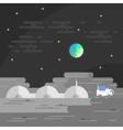 human base on Moon vector image