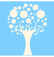 Concept tree on blue background vector image