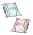 Two simple pillows for the bed and sleeping vector image