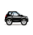 Black car profile isolated on white vector image