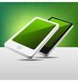 Realistic 3D View Modern Mobile Phones Set - Black vector image