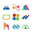 abstract corporate symbol shape design set vector image