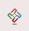 abstract square business logo vector image vector image