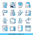 Appliances icons set vector image vector image