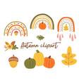 autumn clipart autumn rainbow cute fall vector image vector image