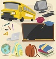 back to school item pack 1 vector image vector image