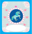 beautiful Unicorn card vector image vector image