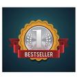 bestseller badge vector image vector image