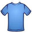 blank blue tee shirt blank cartoon vector image