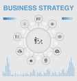 business strategy infographic with icons contains vector image