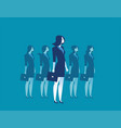 businesswoman leadership standing vector image vector image