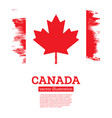 canada flag with brush strokes independence day vector image