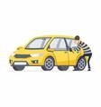 car thief - cartoon people characters vector image vector image