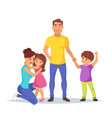caucasian family members parents vector image