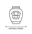 chinese porcelain linear icon vector image
