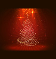 christmas background with tree art vector image vector image