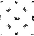 christmas sleigh of santa claus pattern seamless vector image