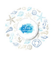 circle from summer marine elements vector image vector image