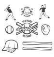 collection baseball logo and insignias vector image vector image
