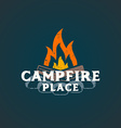 color campfire place sign template vector image vector image