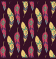 colorful seamless ethnic pattern with decorative vector image vector image