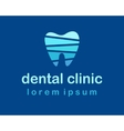 denta clinic logo vector image