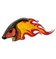 dinosaurus parasaurolophus head art vector image vector image
