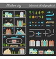 Elements of City Night vector image vector image