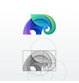 elephant abstract logo template vector image