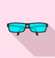 eye glasses icon flat style vector image
