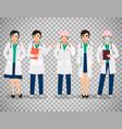 female doctors on transparent background vector image vector image