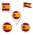 flag spain with coat arms accurate vector image vector image