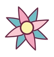 flower cute isolated icon vector image