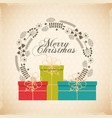 gift box christmas present icon vector image