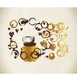 Golden paint cup splashes and harts vector image vector image